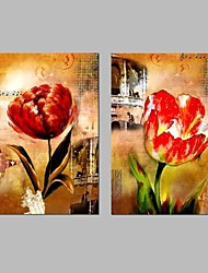 cheap -Stretched Canvas Prints Modern, Two Panels Canvas Horizontal Panoramic Print Wall Decor Home Decoration