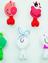 abordables -Crochets Brosse à Dent Multifonction Ajustable Facile à Utiliser Auto-Adhésives Amovible Mignon Créatif Dessin Animé Caoutchouc silicone