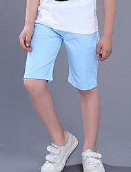 abordables -Couleur Pleine Fille de Quotidien Polyester Eté Robe Actif Bleu Kaki