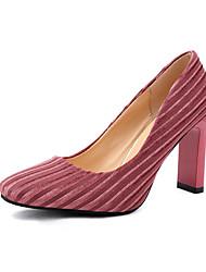preiswerte -Damen Schuhe PU Winter Pumps Komfort Stiefel Spitze Zehe Booties / Stiefeletten für Büro & Karriere Schwarz Braun Dunkelrot