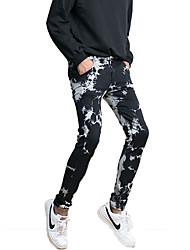 cheap -Men's Simple Jeans Pants - Color Block