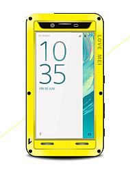 baratos -Capinha Para Sony Xperia X Água / Dirt / à prova de choque Capa Proteção Completa Côr Sólida Rígida Metal para Sony Xperia X