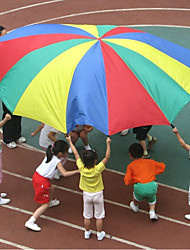 preiswerte -2M Child Kid Sports Development Outdoor Rainbow Umbrella Parachute Spiel-Zelte & -Tunnel Sport Eltern-Kind-Interaktion Mädchen Kinder