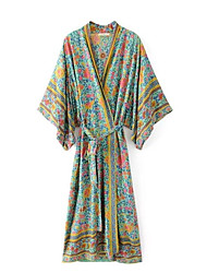 cheap -Women's Vintage Coat - Geometric V Neck / Spring