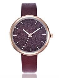 baratos -Mulheres Quartzo Relógio Pavé Relógio Elegante Relógio de Moda Relógio Casual Chinês Relógio Casual PU Banda Casual Fashion Preta Azul