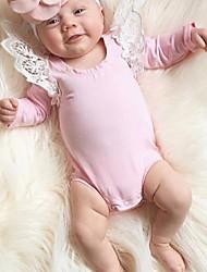 povoljno -Dijete Uniseks Pamuk Geometrijski oblici Dnevno Proljeće Ljeto Dugih rukava Jednodijelno Jednostavan Crn Blushing Pink