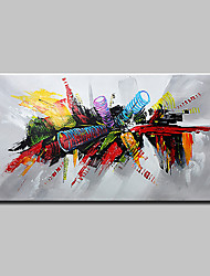 cheap -Oil Painting Hand Painted - Abstract Pop Art Modern Canvas
