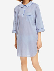 cheap -Women's Cotton Satin & Silk Pajamas - Lace, Solid Colored
