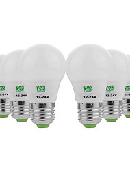 economico -YWXLIGHT® 6pcs 3W 200-300lm E26 / E27 Lampadine globo LED 6 Perline LED SMD 5730 Decorativo Bianco caldo Luce fredda 12-24V