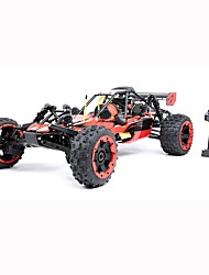 baratos -Carro com CR ROVAN 2.4G Rock Climbing Car / Off Road Car / Drift Car 1:5 Gasolina 40 km/h KM / H