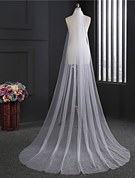 cheap -One-tier Classic Wedding Veil Chapel Veils 53 Fringe Tulle