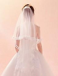 cheap -One-tier Lace Applique Edge / Veil Wedding Veil Elbow Veils / Fingertip Veils with Pendant / Pattern Lace / Tulle / Classic
