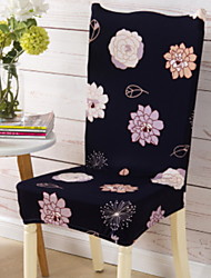 cheap -Contemporary 100% Polyester Jacquard Chair Cover, Simple Floral Printed Slipcovers