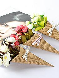 abordables -Personnalisé Tissus Papier Kraft Bouquets Figurine & Statue Mariée Fille d'honneur Mariage
