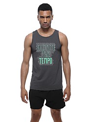 cheap -Men's Muscle Tee Sleeveless Breathability Tank for Exercise & Fitness Polyester Grey S M L XL XXL