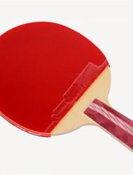 economico -DHS® R4006-4007 Ping-pong Racchette Legno Gomma da cancellare 4 Stelle Manopola corta Brufoli