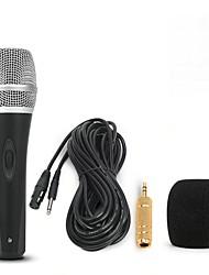 baratos -KEBTYVOR DH1 Com Fio 6.3 mm Microfone Microfone Microfone Dinâmico Microfone Portátil Para Microfone de Computador Microfone de Karaoke