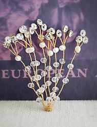 cheap -Rhinestone Hair Pin with Rhinestone Imitation Pearl Crystal Detailing 1pc Wedding Party / Evening Headpiece
