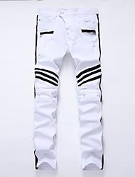 cheap -Men's Plus Size Cotton Slim Jeans Pants - Solid Colored
