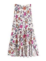 preiswerte -Damen Baumwolle Schaukel Röcke - Blumen