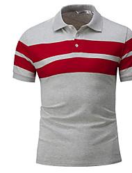 cheap -Men's Active Basic Slim Polo - Striped Shirt Collar