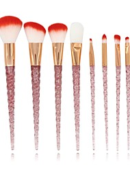 baratos -8pçs Profissional Pincéis de maquiagem Conjuntos de pincel Pêlo Sintético / Fibra Sintética Cobertura Total ABS Rosto