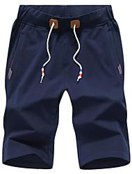 economico -Per uomo Semplice Pantaloncini Pantaloni - Tinta unita