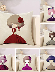 cheap -6 pcs Cotton/Linen Pillow Case Novelty Pillow Pillow Cover, Special Design Fashion Novelty Casual/Daily Leisure