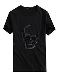 preiswerte -Herrn Totenkopf Motiv T-shirt Bestickt