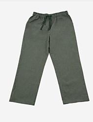 Недорогие -мужской атлас& шелковая пижама-рыхлая, твердая