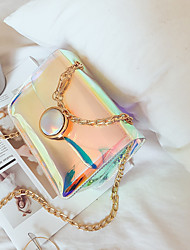 cheap -Women's Bags PU Shoulder Bag Zipper for Casual All Seasons Rainbow