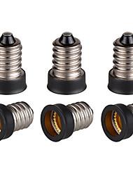 Недорогие -6шт E14 до E12 Световой разъем Алюминий пластик Аксессуары для ламп