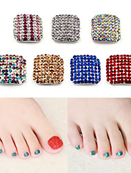 cheap -Two-piece Suit Artificial Nail Tips Rhinestone Style nail art Manicure Pedicure Bling Bling
