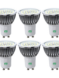 cheap -YWXLIGHT® 6pcs 7W 600-700 lm GU10 LED Spotlight 48 leds SMD 2835 Warm White Cold White Natural White