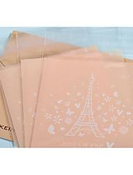 baratos -Forma quadrada Plástico Suportes para Lembrancinhas com Estampa Bolsas de Ofertas - 1conjunto