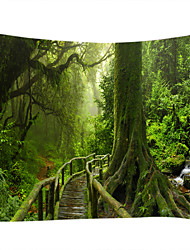cheap -Garden Theme Landscape Wall Decor 100% Polyester Contemporary Modern Wall Art, Wall Tapestries of