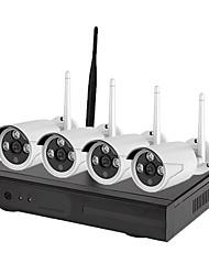 Недорогие -4ch wifi 1080p hd камера ночного видения камера p2p colud 90 скорость передачи pal / ntsc 100