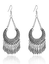 cheap -Women's Tassel Silver Plated Drop Earrings - Tassel Fashion Geometric Moon For Going out Street
