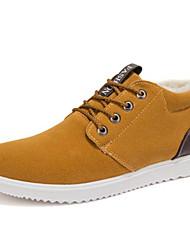 Homens sapatos Pele Nobuck Inverno Outono Conforto Tênis para Casual Preto Amarelo Azul