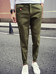 cheap -Men's Casual Cotton Slim Slim Chinos Pants - Solid Colored