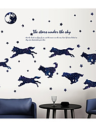 cheap -Abstract Animals Wall Stickers Plane Wall Stickers Animal Wall Stickers Decorative Wall Stickers, Paper Home Decoration Wall Decal Wall
