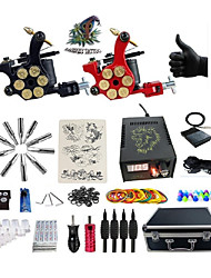 cheap -Professional Tattoo Machine - 2 rotary machine liner & shader Voltage Adjustable Professional Cast Iron Alloy Handmade