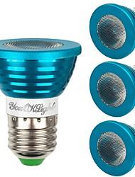 baratos -YouOKLight 4pçs 3W - E26 / E27 Lâmpadas de Foco de LED 1 Contas LED LED de Alta Potência Regulável Decorativa Controle Remoto RGB 85-265V