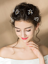 cheap -Pearl Hair Pin with Imitation Pearl 3 Pieces Wedding Party / Evening Headpiece