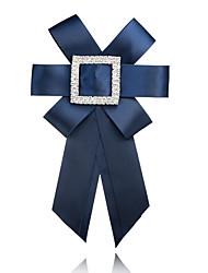 Недорогие -Жен. Броши - Бант европейский, Мода Брошь Красный / Синий / Тёмно-синий Назначение Официальные