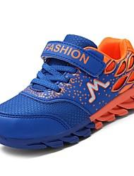 baratos -Para Meninos sapatos Borracha Primavera Conforto Tênis para Ao ar livre Azul Escuro Vermelho Azul Real