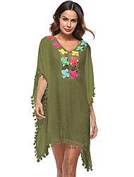 cheap -Women's Street chic Boho Loose Dress - Color Block