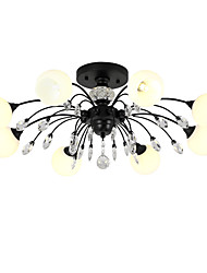 cheap -LightMyself™ 8-Light Chandelier / Pendant Light Ambient Light - Crystal, Matte, 110-120V / 220-240V, Warm White / White, Bulb Included
