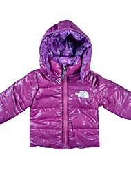cheap -Girls' Daily Holiday Solid Down & Cotton Padded, Cotton Winter Long Sleeves Simple Purple