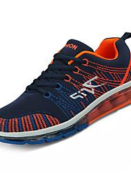 baratos -Homens sapatos Com Transparência Primavera / Outono Conforto Tênis Corrida Laranja / Branco / Preto / Preto / verde